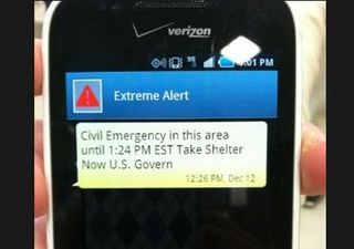 Verizon emergency text