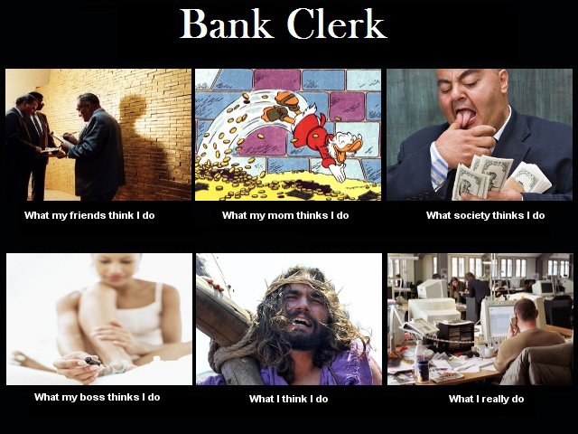 Bank Clerk Meme