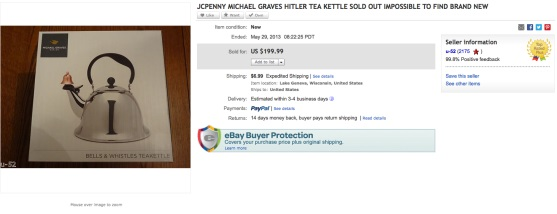 Hitler teapot on Ebay