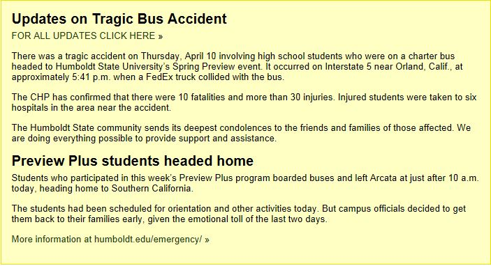 Communications About California Bus Tragedy (BizCom in the News)