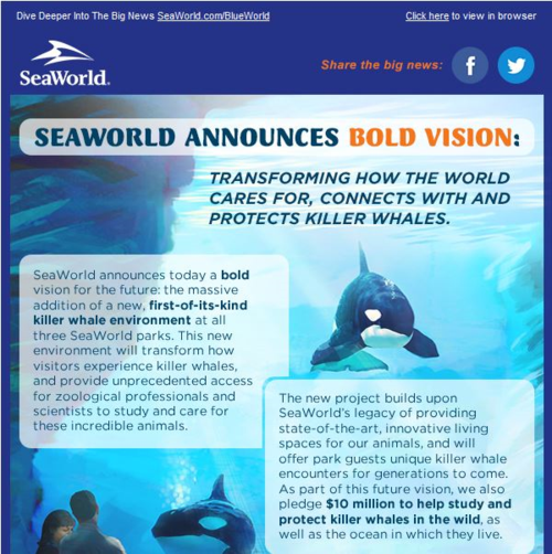 SeaWorld news