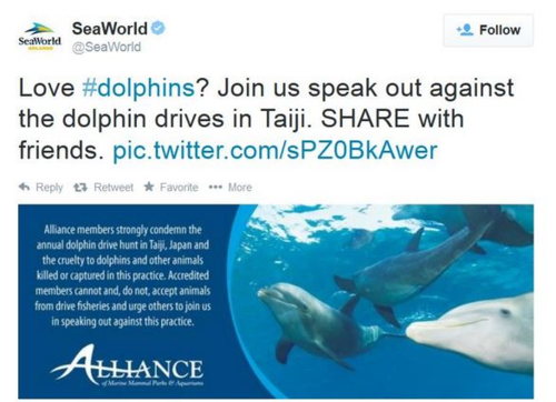 Twitter fail from Sea World