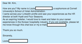 Sample LinkedIn Message