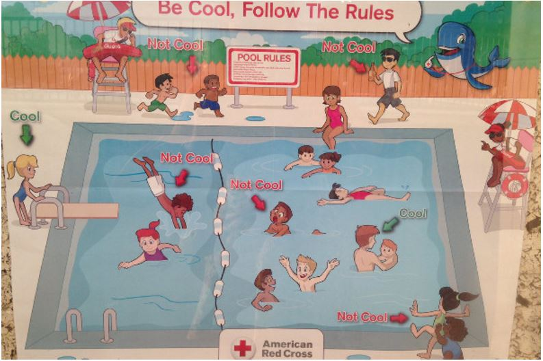 Red Cross Pool Poster